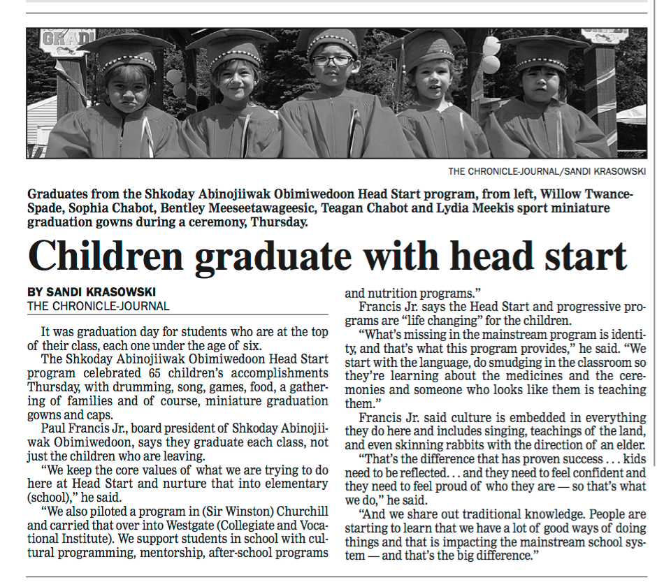 Headstart News Article